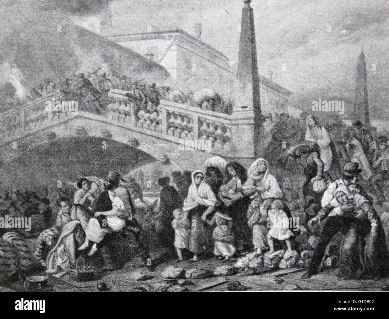 Venetian revolution against the Austrians. 'In the hope of re-establishing her ancient form of government under - Stock Image