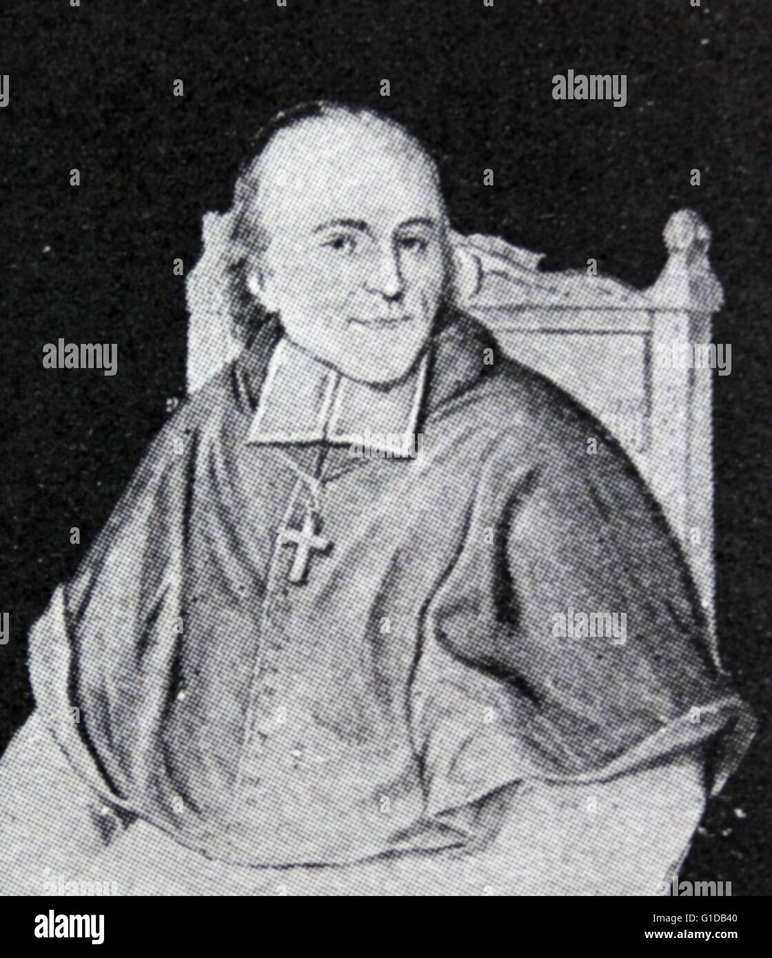 Archbishop Ferdinand of Cologne. He held his office until 1835. - Stock Image