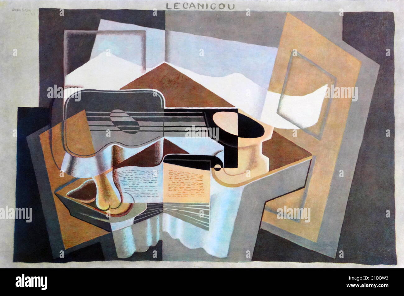 le canigou 1921, by Juan Gris (1887 –1927), Spanish painter and sculptor connected to the innovative artistic genre - Stock Image