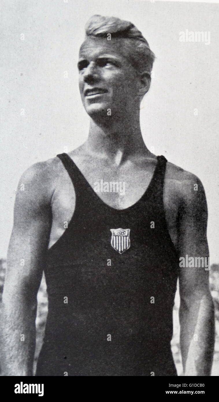 Photographic portrait of Marshall Wayne (1912-1999)  an American diver, competing during the 1936 Berlin Olympics. - Stock Image