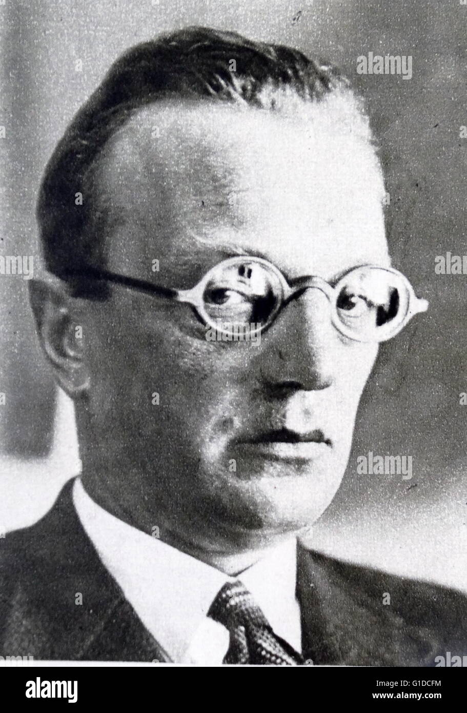 Photographic portrait of Arthur Seyss-Inquart (1892-1946) an Austrian Nazi politician who served as Chancellor of Stock Photo