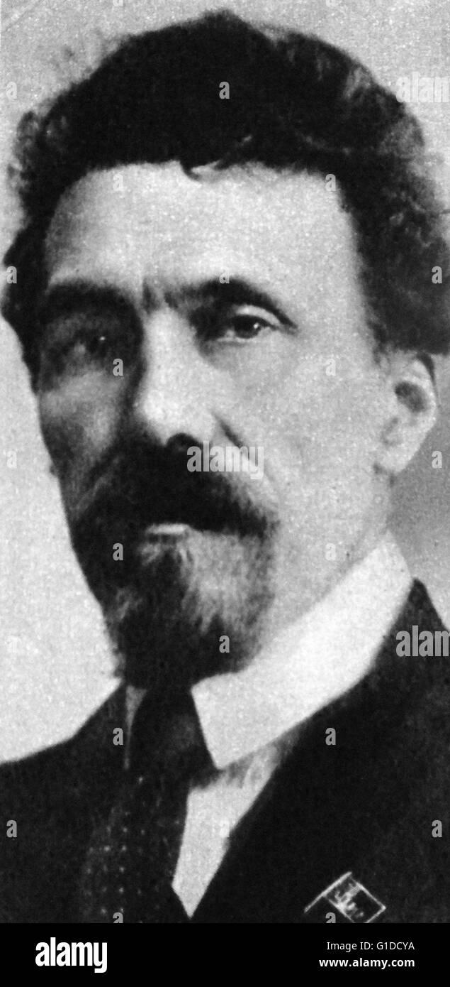 Alexei Ivanovich Rykov (1881 – 1938)Russian Bolshevik revolutionary and a Soviet politician most prominent as Premier - Stock Image