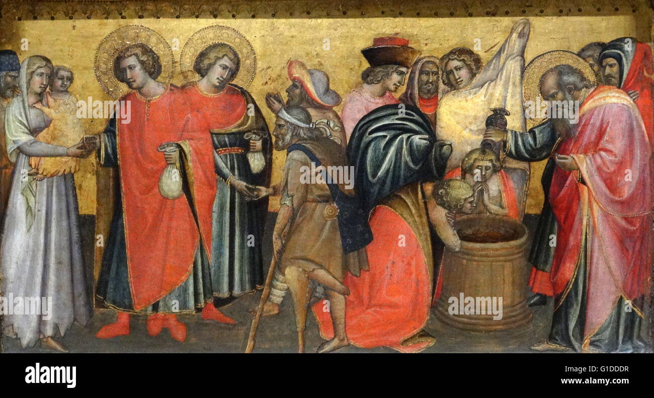 The Ascension Of St John Evangelist With Saints By Giovanni Dal Ponte 1385 1437 An Italian Painter Late Gothic Period