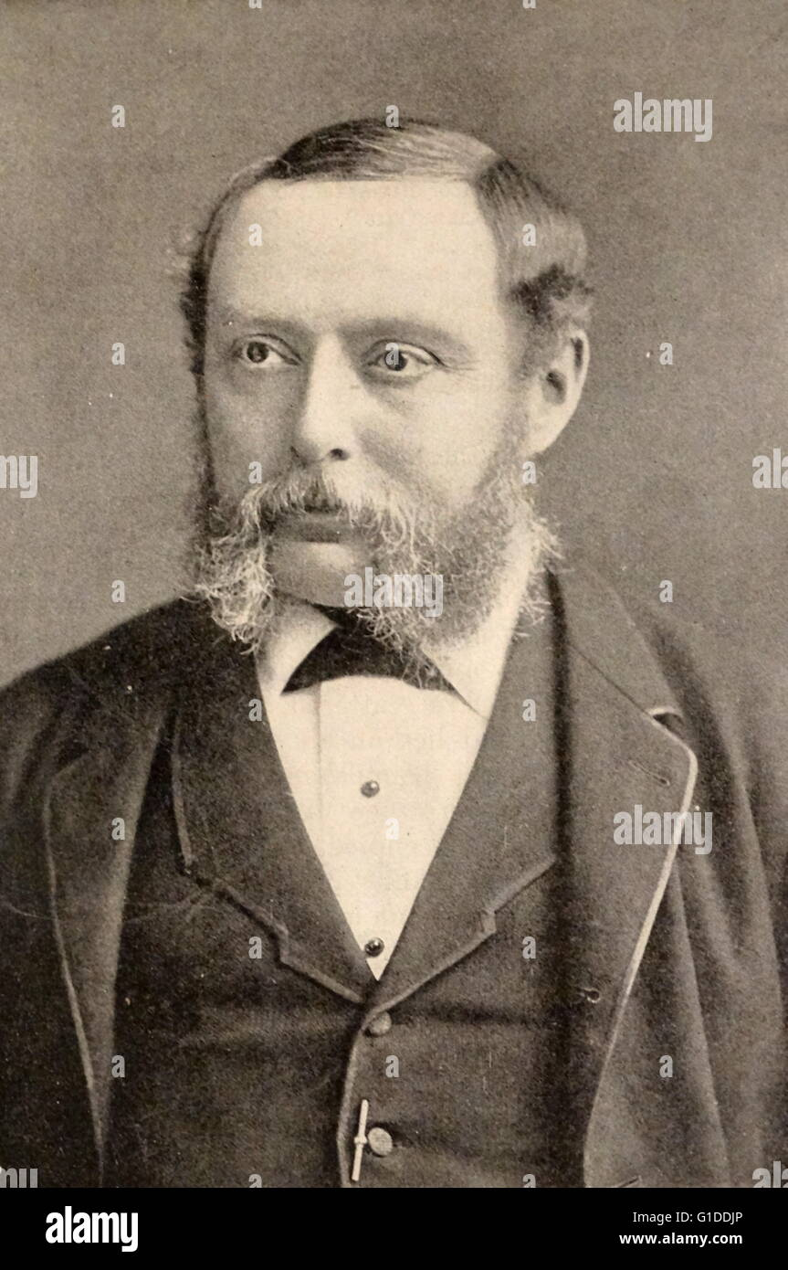Photographic portrait of Richard A. Proctor (1837-1888) an English astronomer. Dated 19th Century - Stock Image