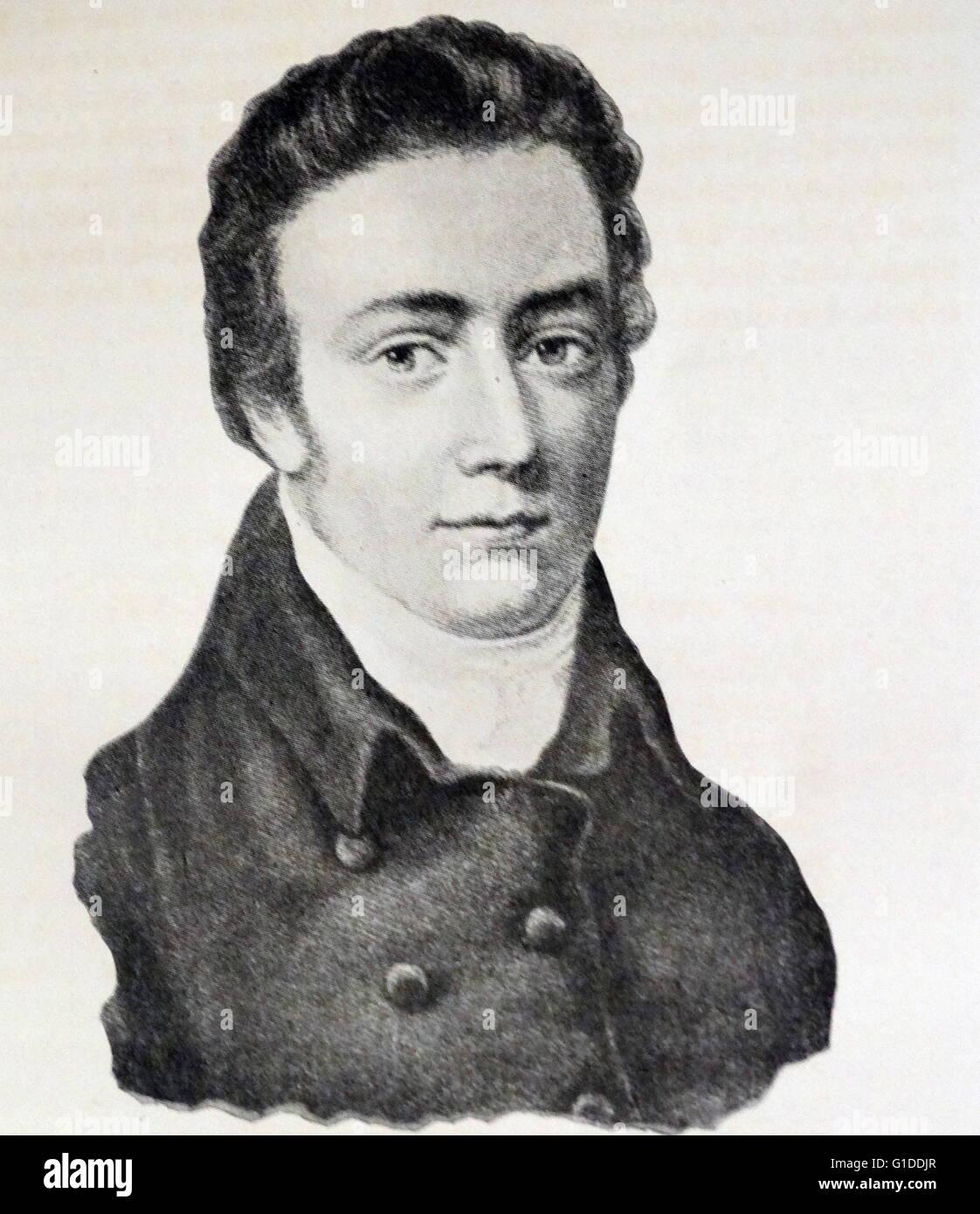 Portrait of Samuel Taylor Coleridge (1772-1834) an English poet, literary  critic