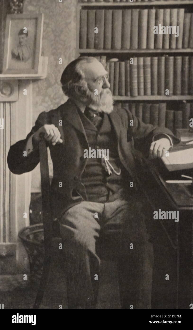 Photographic portrait of Justin McCarthy (1830-1912) n Irish nationalist and Liberal historian, novelist and politician. - Stock Image