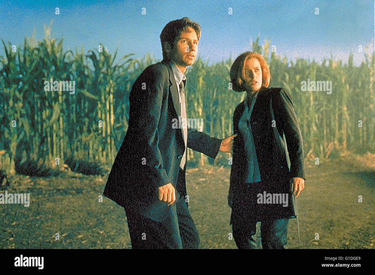 Akte X - Der Film / David Duchovny / Gillian Anderson, - Stock Image