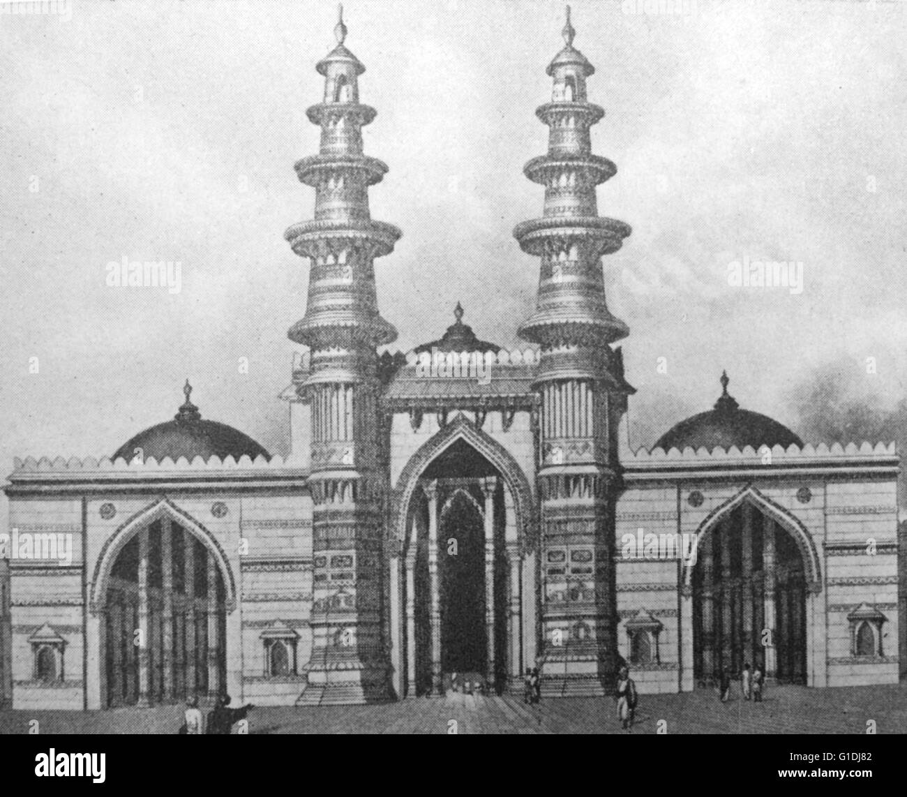 Ahmed Shah's Mosque, also known as Shahi Jam-e-Masjid, erected by the founder of Ahmedabad, Ahmed Shah I in - Stock Image
