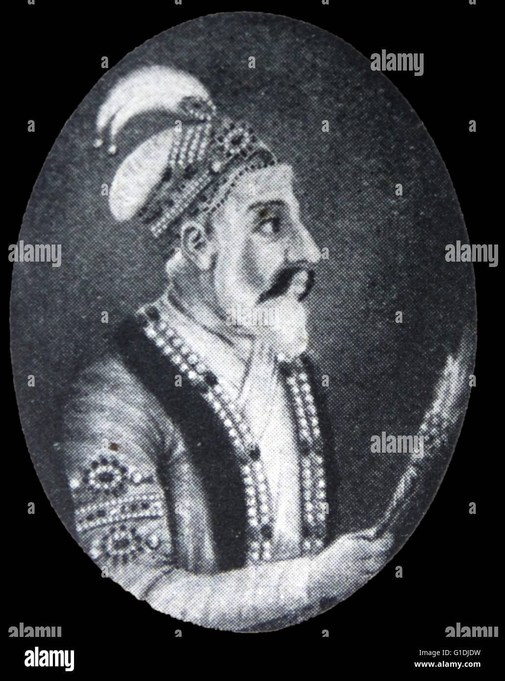 Shah Jahan 1592-1666. Mughal Emperor of India 1628-1658. Stock Photo