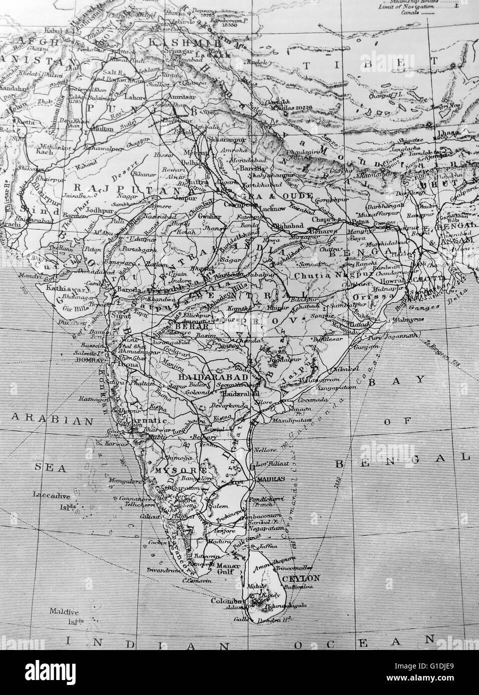 India map black and white stock photos images alamy map of india stock image gumiabroncs Choice Image