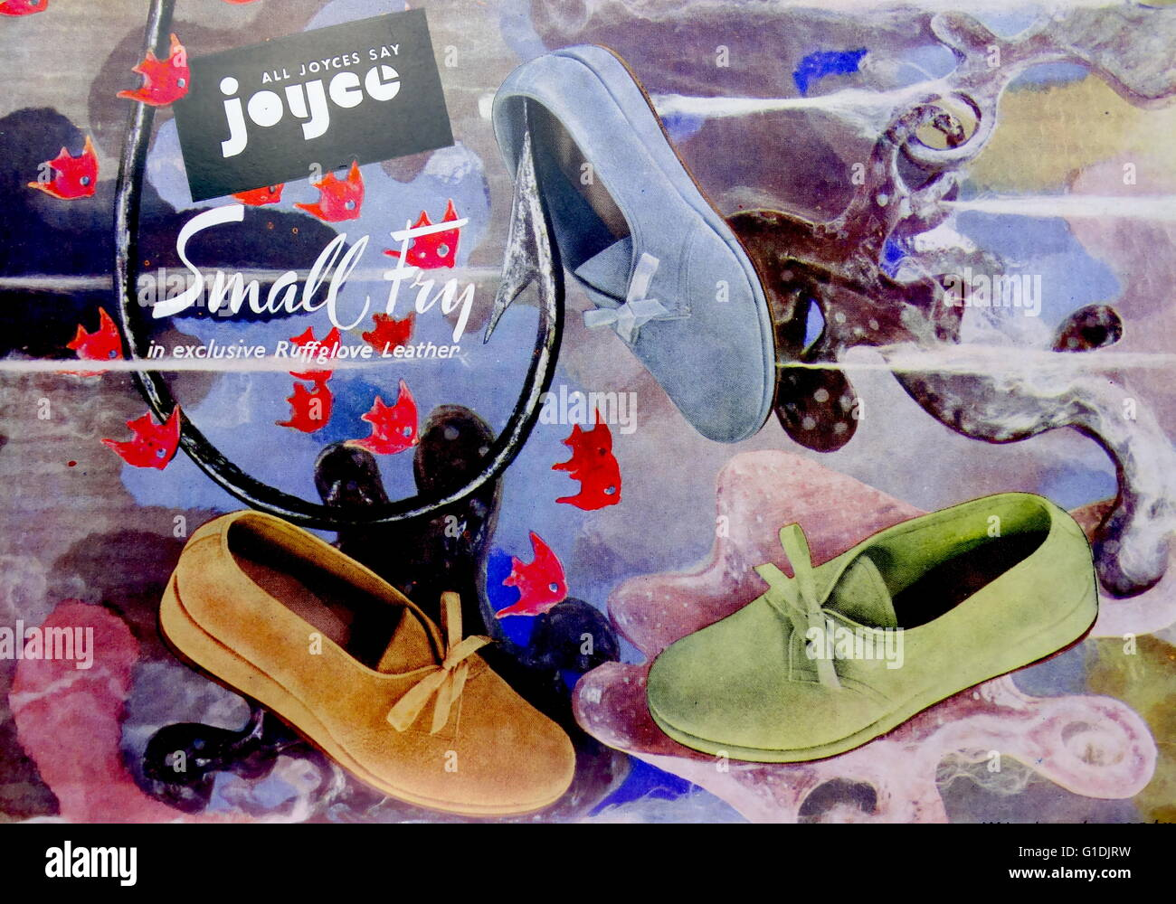 Advert for Joyce exclusive Ruff Leather Shoes - Stock Image