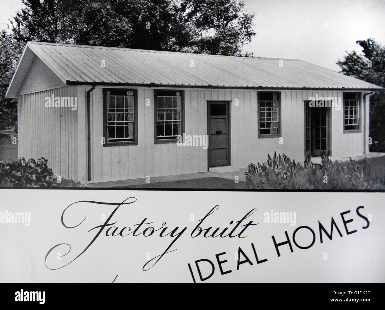 Example of factory built homes by A. W. Hawksley Ltd. - Stock Image