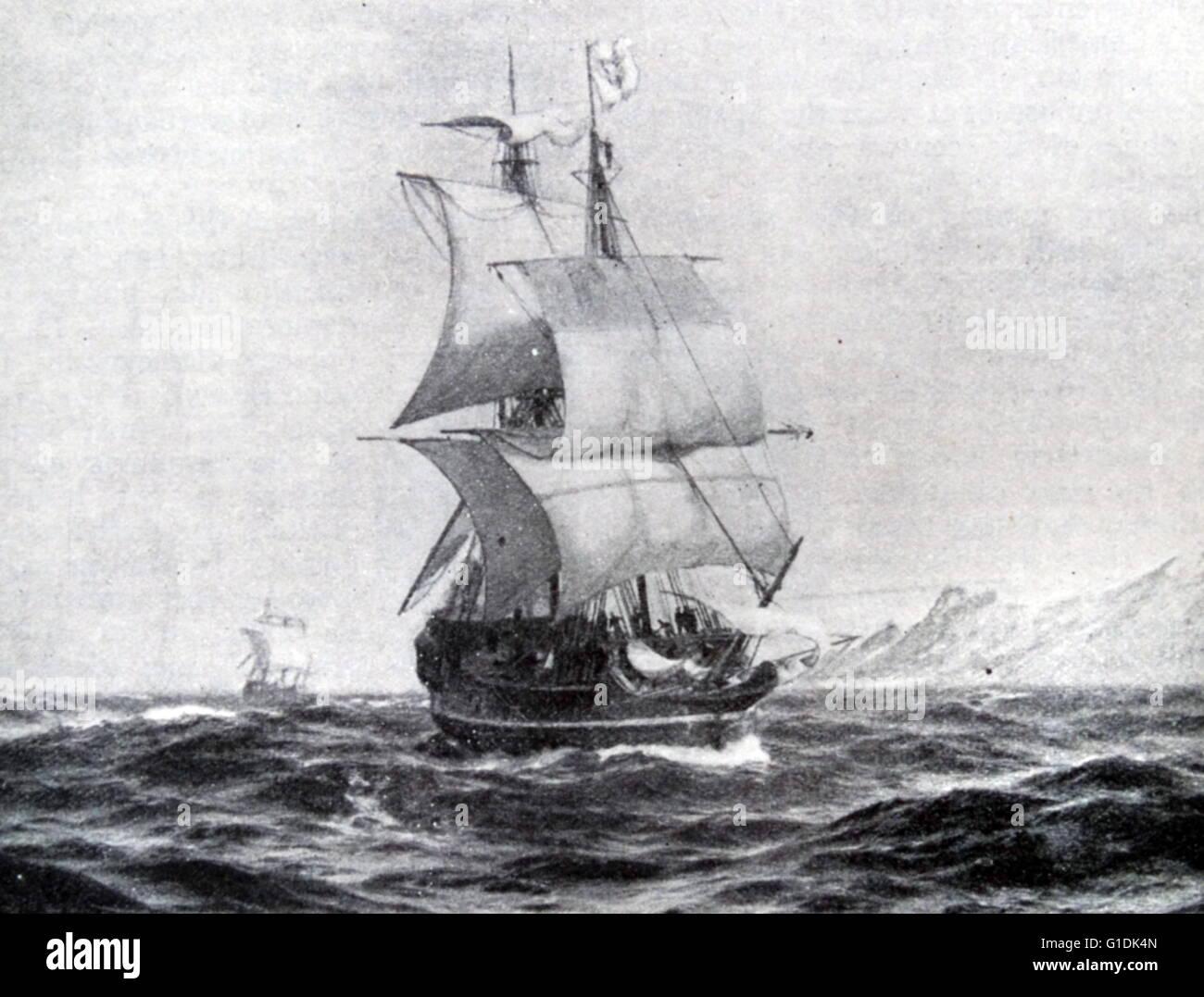 Ferdinand Magellan Portuguese Explorer: Ship Of Ferdinand Magellan (1480-1521) A Portuguese
