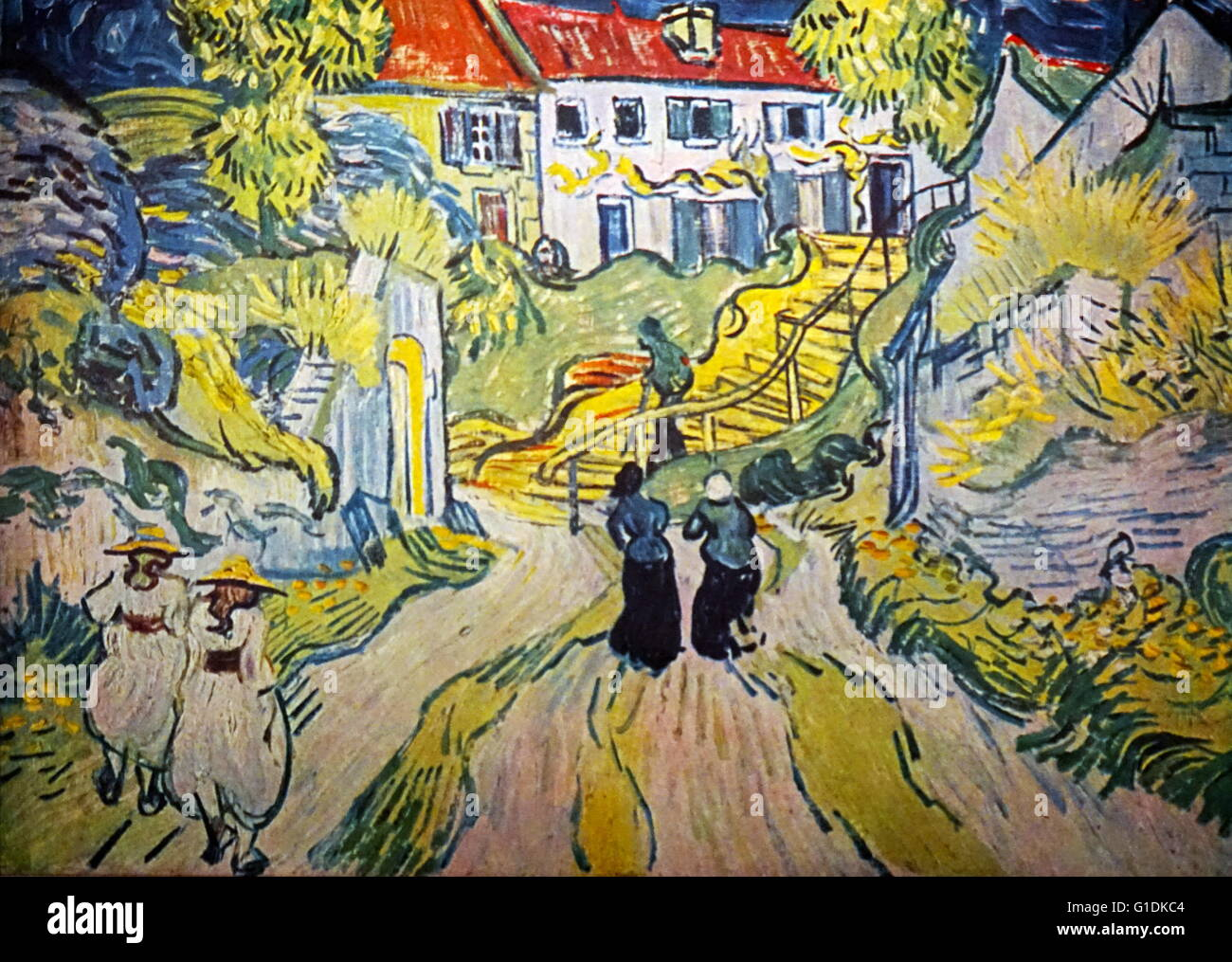 Vincent van Gogh (1853-1890) post-Impressionist painter. Stairway at Auvers, July 1890, oil on canvas - Stock Image