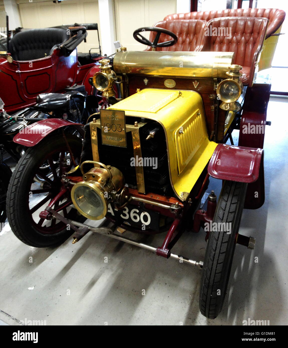 Sunbeam Two Seater Tourer. The car competed in multiple London to Brighton veteran car runs. Made by the Sunbeam - Stock Image