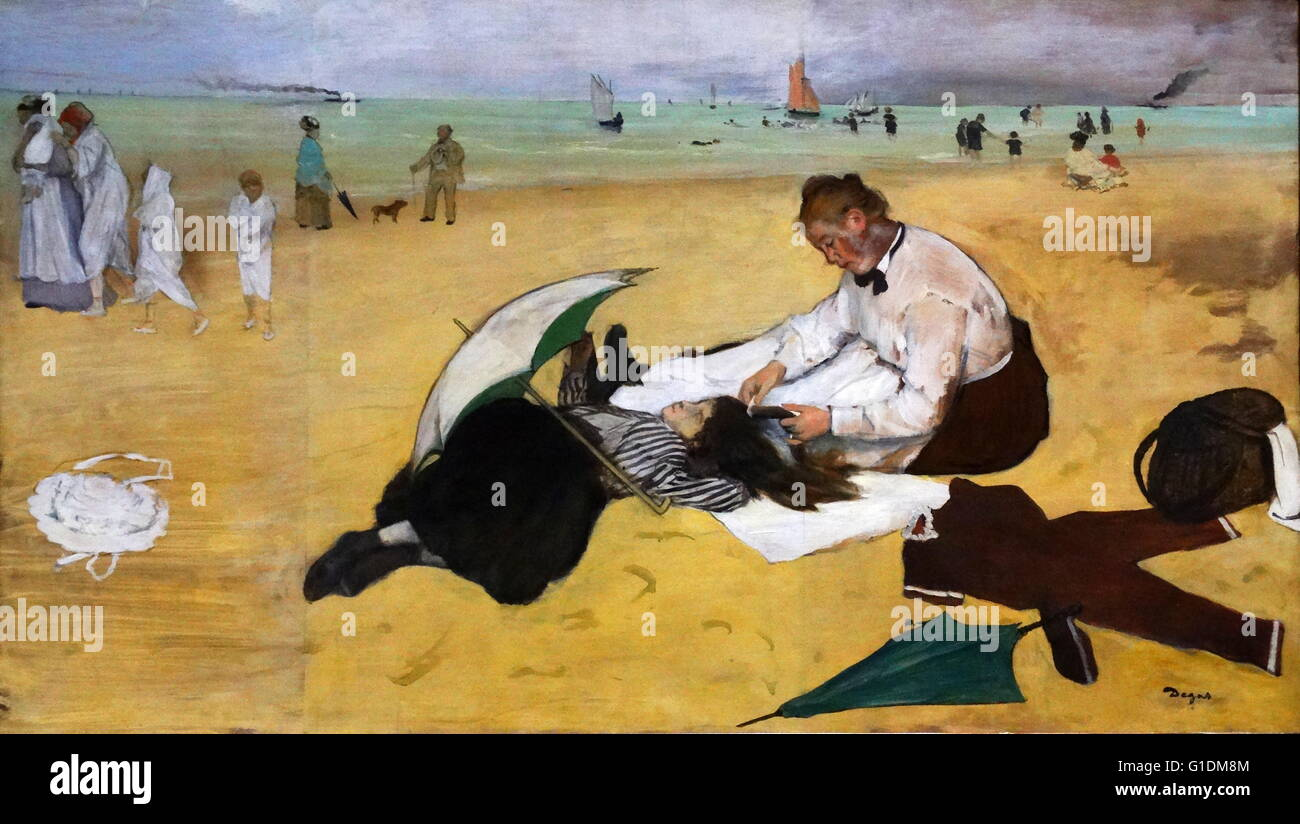 Painting Titled Beach Scene By Edgar Degas 1834 1917 A French