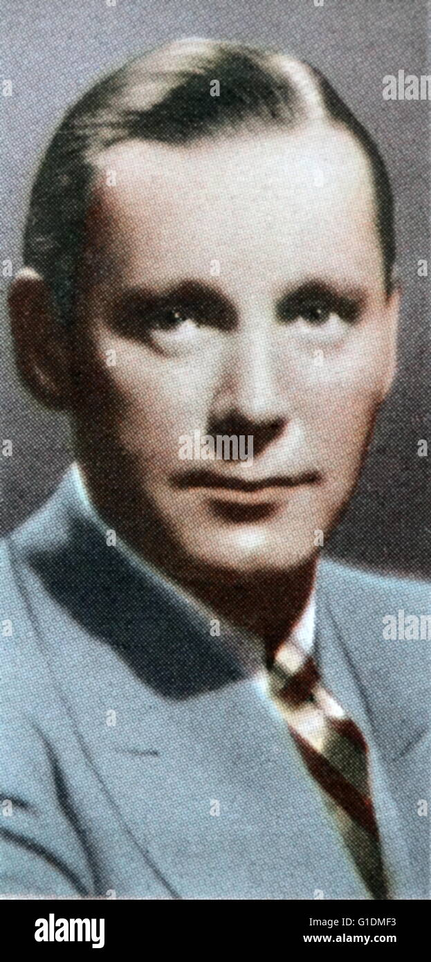 Herbert Marshall (1890-1966), an English stage, screen and radio actor. Dated 20th Century - Stock Image