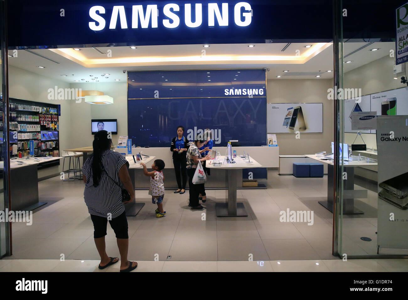 Samsung store. Bangkok. Thailand. - Stock Image