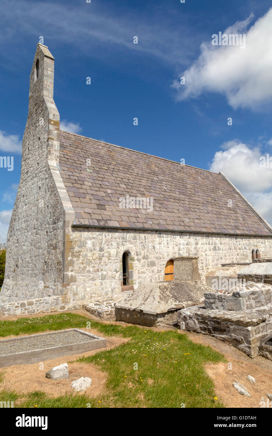 Temple-na-Griffin, a 15th-century church, north-west of Ardfert Cathedral, near Tralee, County Kerry, Munster Province, - Stock Image