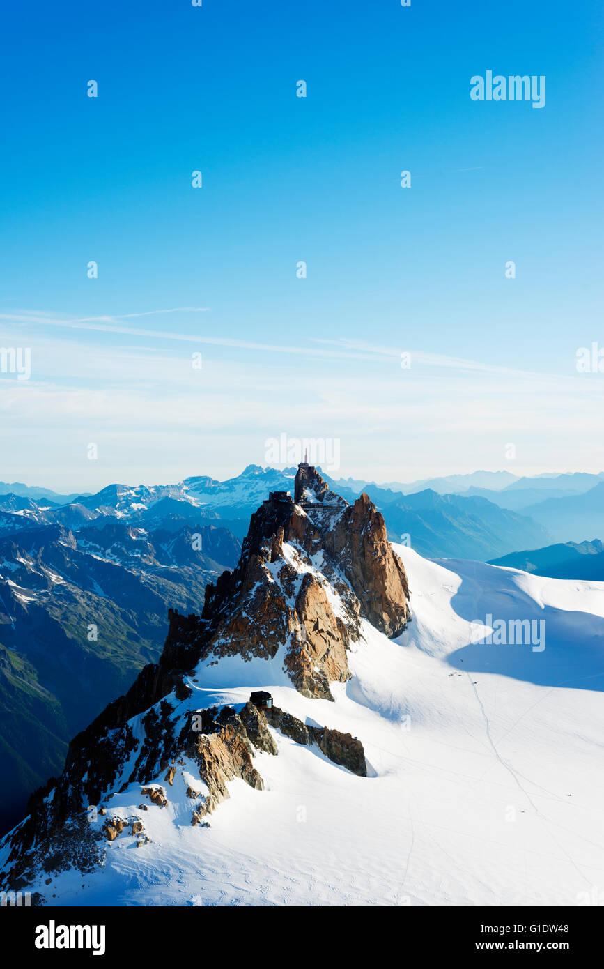 Europe, France, Haute Savoie, Rhone Alps, Chamonix, Aiguille du Midi - Stock Image