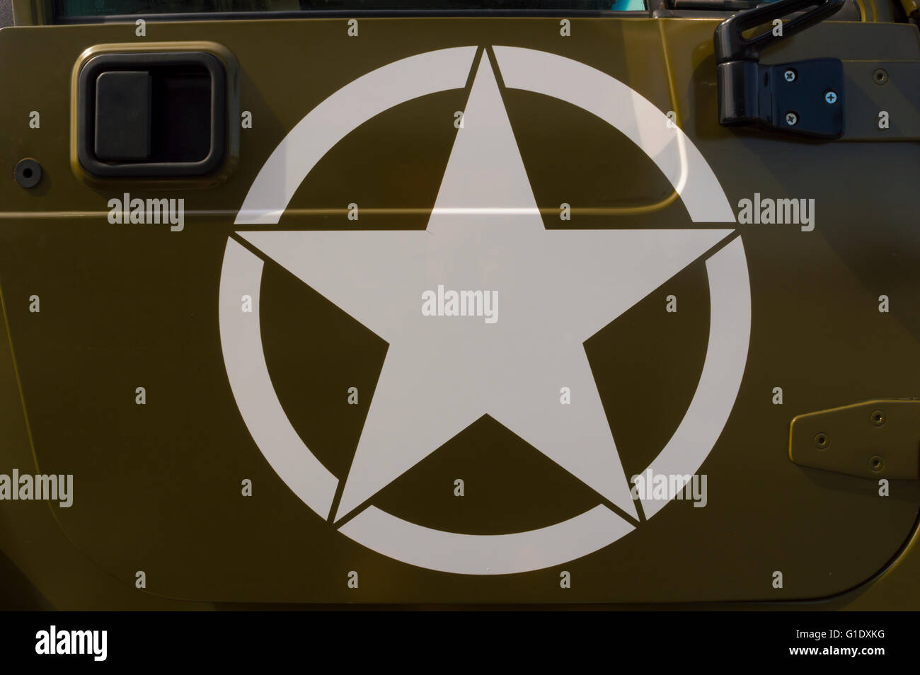 Us Army Symbol On A Staff Car Stock Photo 104183172 Alamy