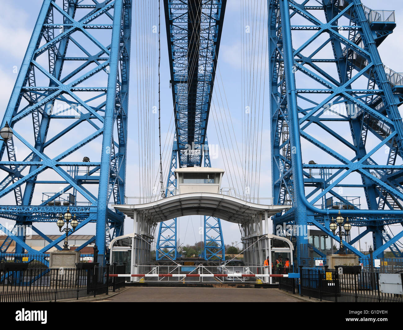 The Transporter Bridge across the river Tees in Middlesbrough. - Stock Image