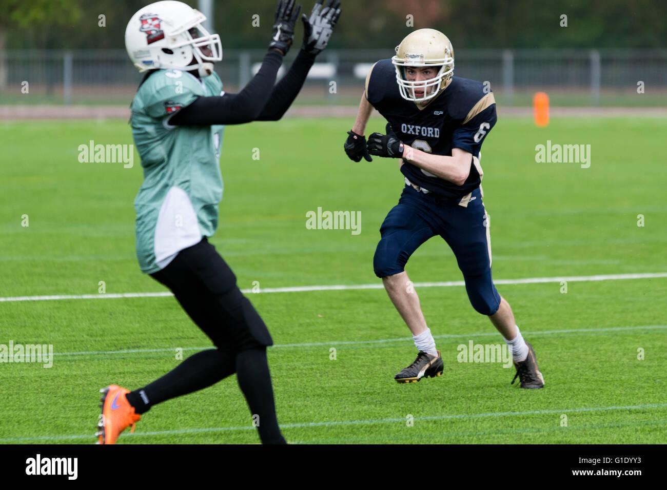 Varsity Bowl X Oxford University AFC vs Cambridge AFC - Stock Image