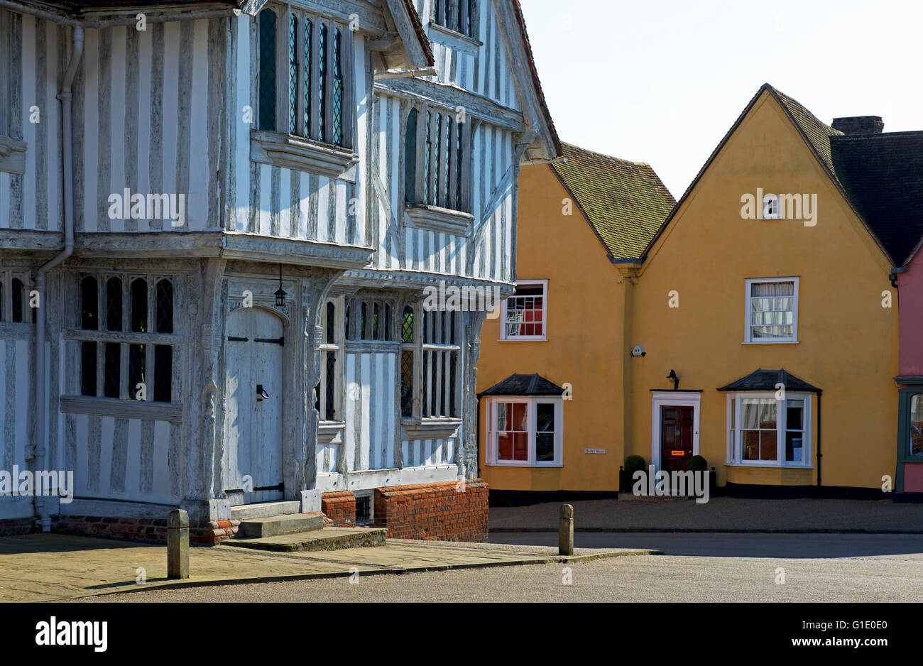 The Guildhall, a National Trust property, in the village of Lavenham, Suffolk, England UK - Stock Image