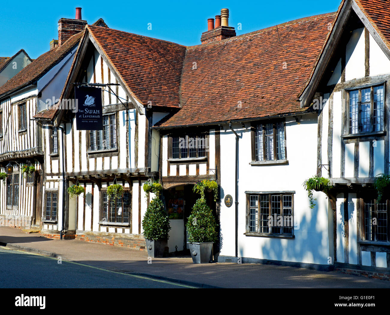 The Swan at Lavenham, hotel and spa, Suffolk, England UK Stock Photo
