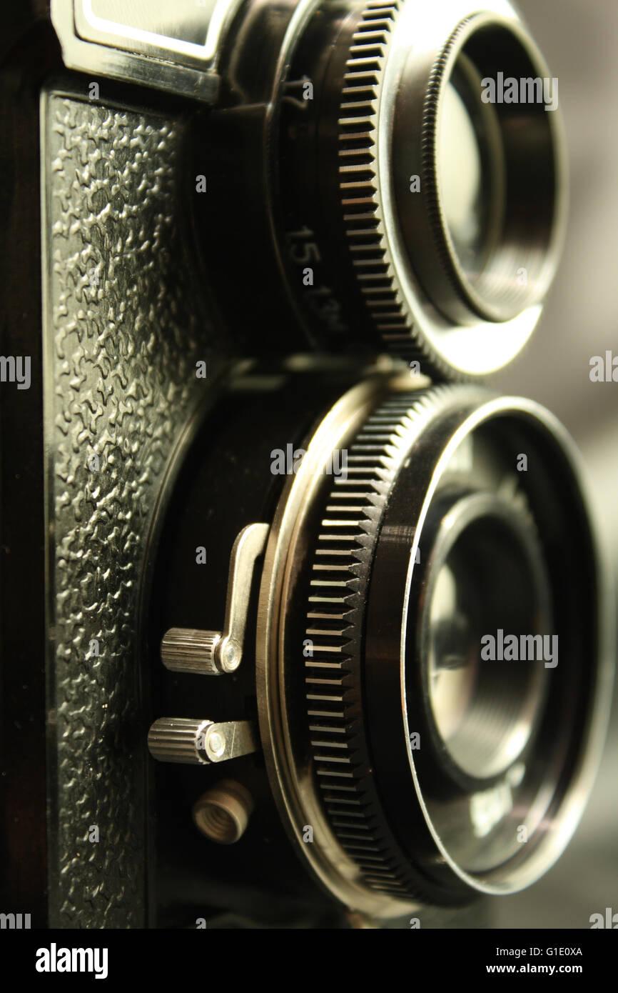 old reflex camera - Stock Image