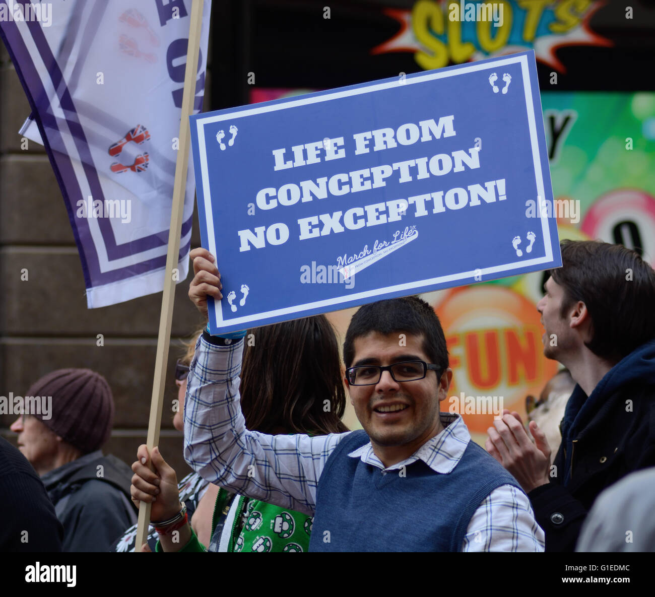 Pro Life rally Birmingham 14th May 2016 - Stock Image
