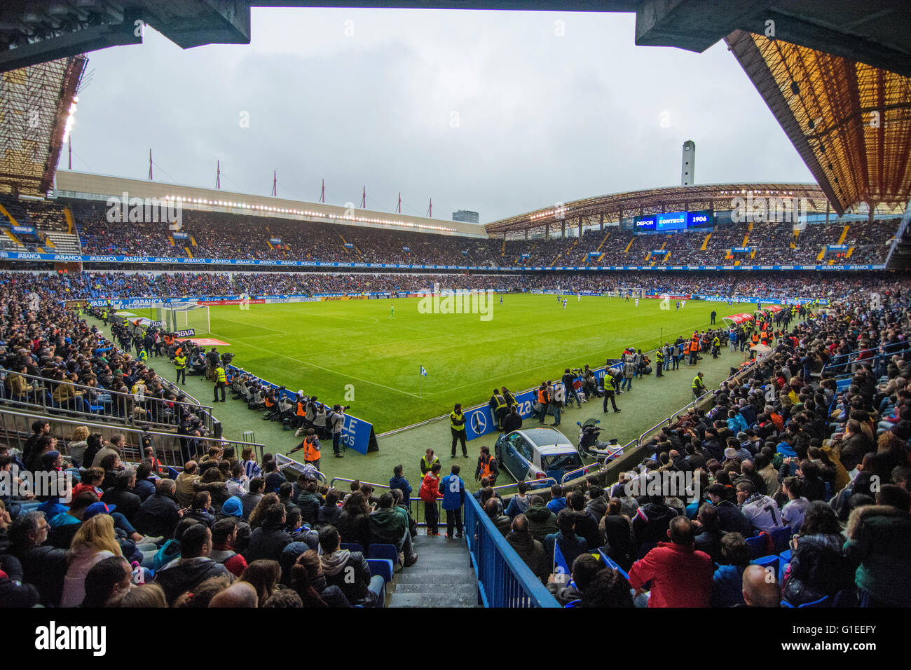 La Coruña, Spain. 14th May, 2016. during the football match of last round of Season 2016/2017 of Spanish league - Stock Image