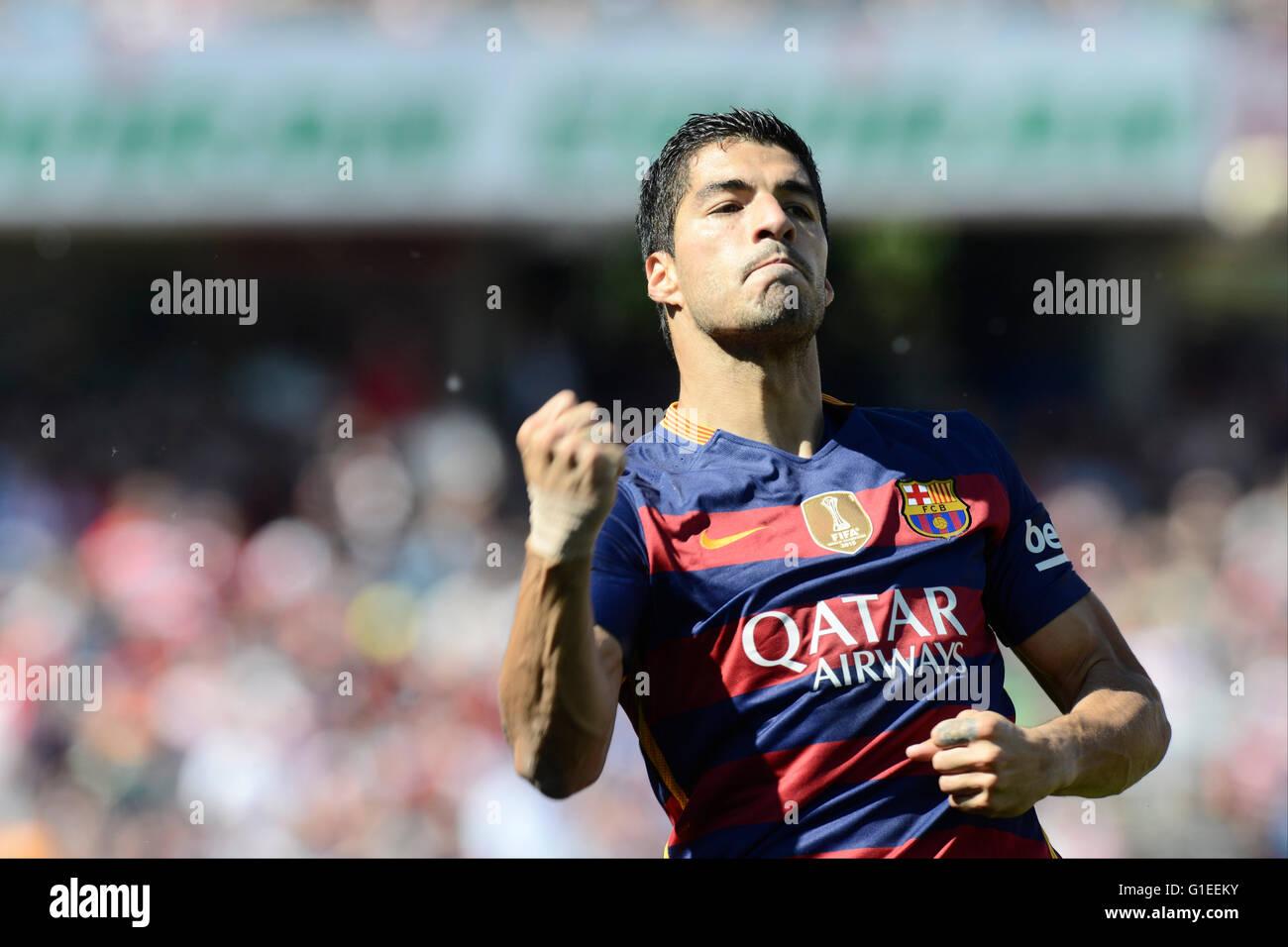 0a23971ff92 Granada, Spain. 14th May, 2016. Luis Suarez during the last league ...