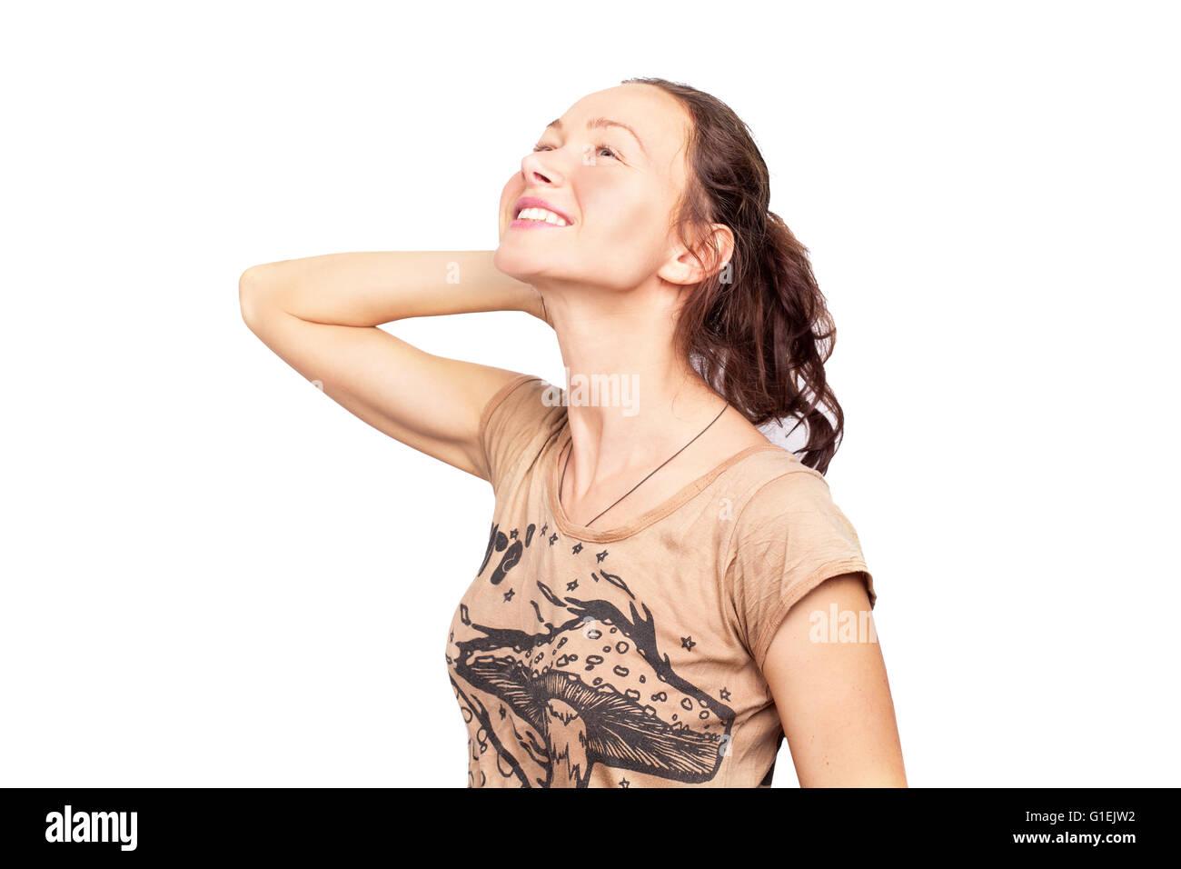happy teen girl - Stock Image