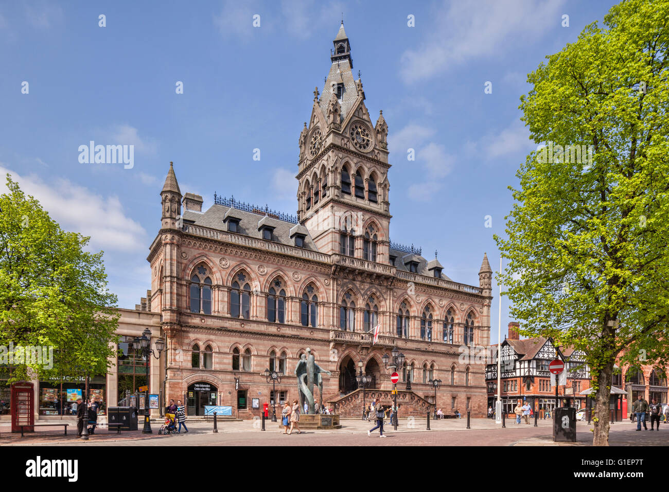 The Town Hall In Chester Cheshire England A Gothic Revival Building Opened 1869