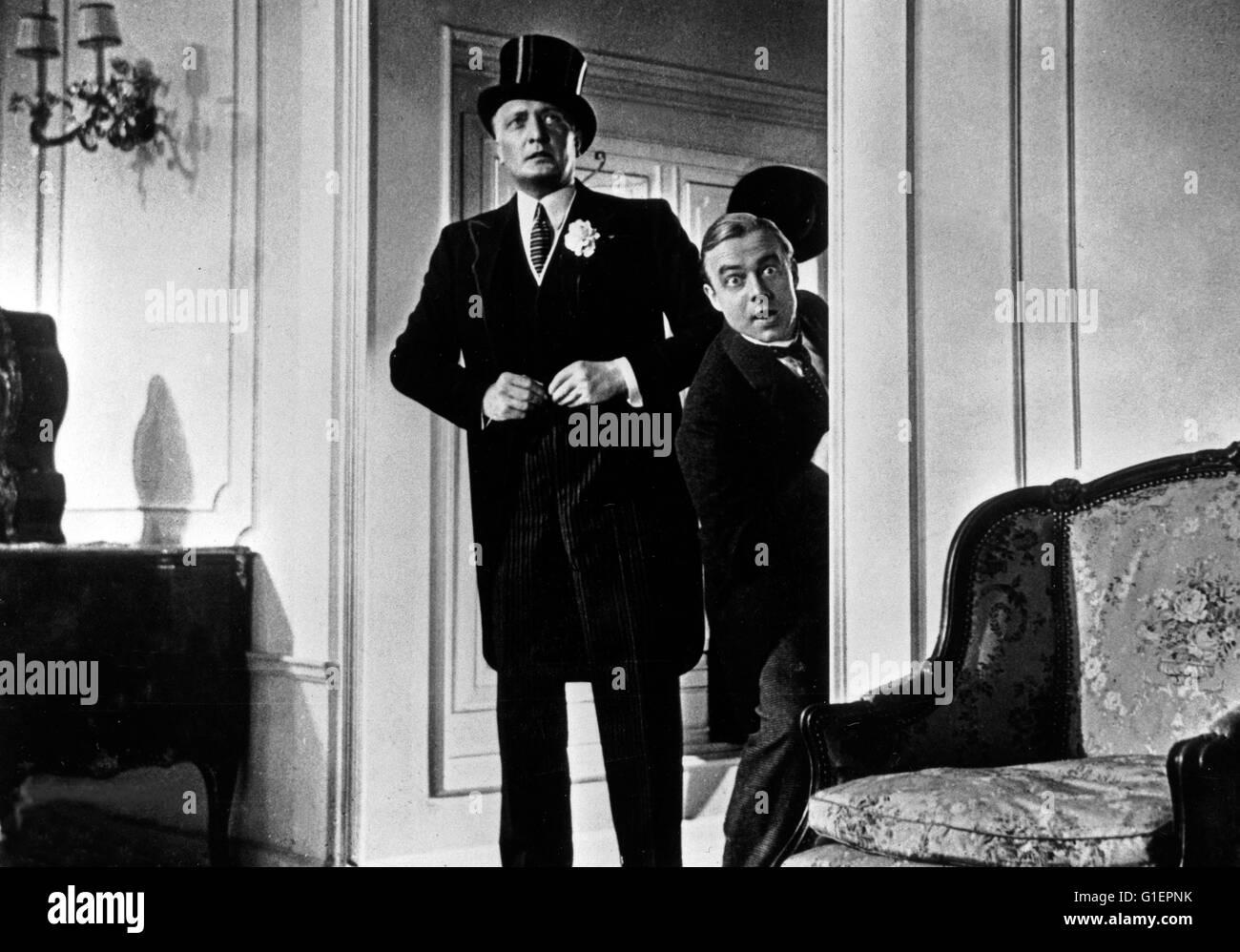 Der Mann, der Sherlock Holmes war, Deutschland 1937, Regie: Karl Hartl, Darsteller: Hans Albers (links), Heinz Rühmann - Stock Image