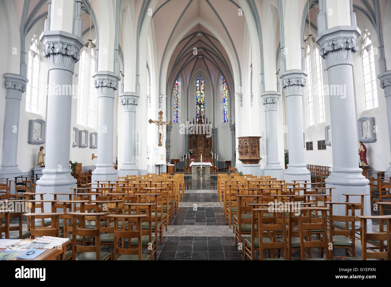 The Church of Orchimont in the Ardennes in Belgium - Stock Image