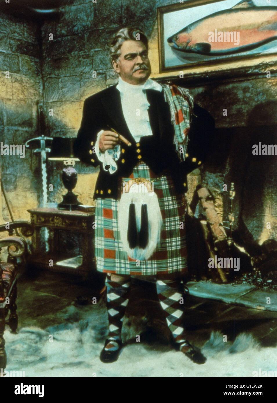 Trouble in the Glen, aka: Scherereien mit seiner Lordschaft, Großbritannien 1954, Regie: Herbert Wilcox, Darsteller: - Stock Image