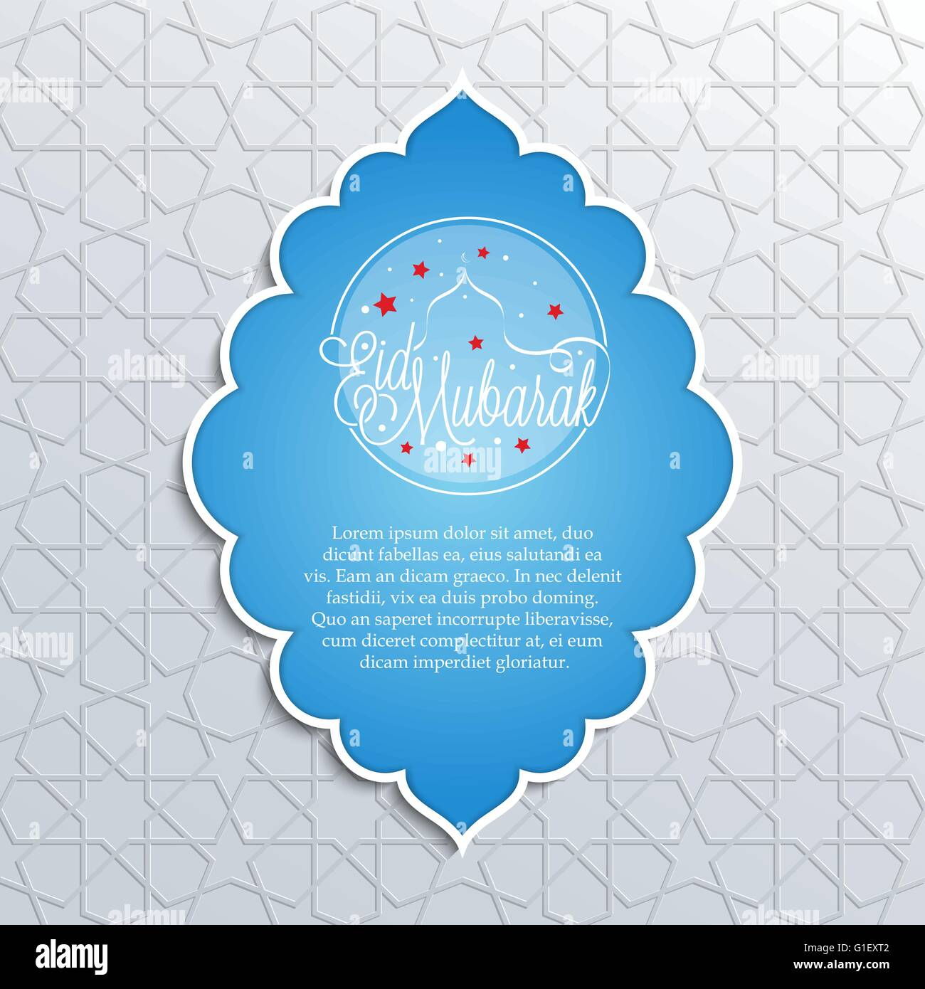 Vector illustration of eid mubarak greeting card design on islamic vector illustration of eid mubarak greeting card design on islamic decorative background for holy month ramadan kristyandbryce Image collections