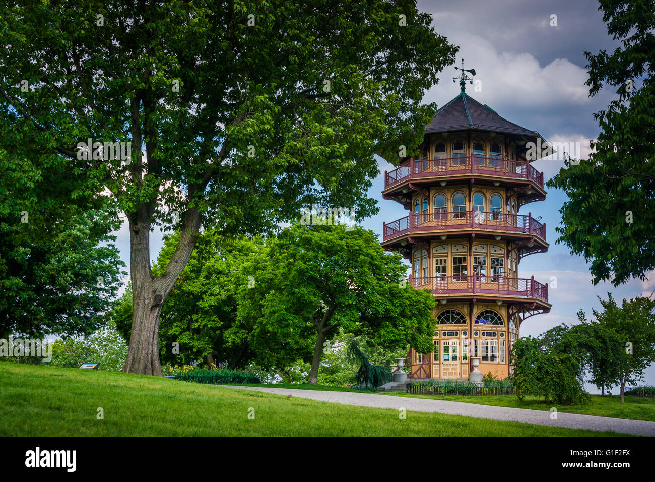 The pagoda at Patterson Park in Baltimore, Maryland. - Stock Image