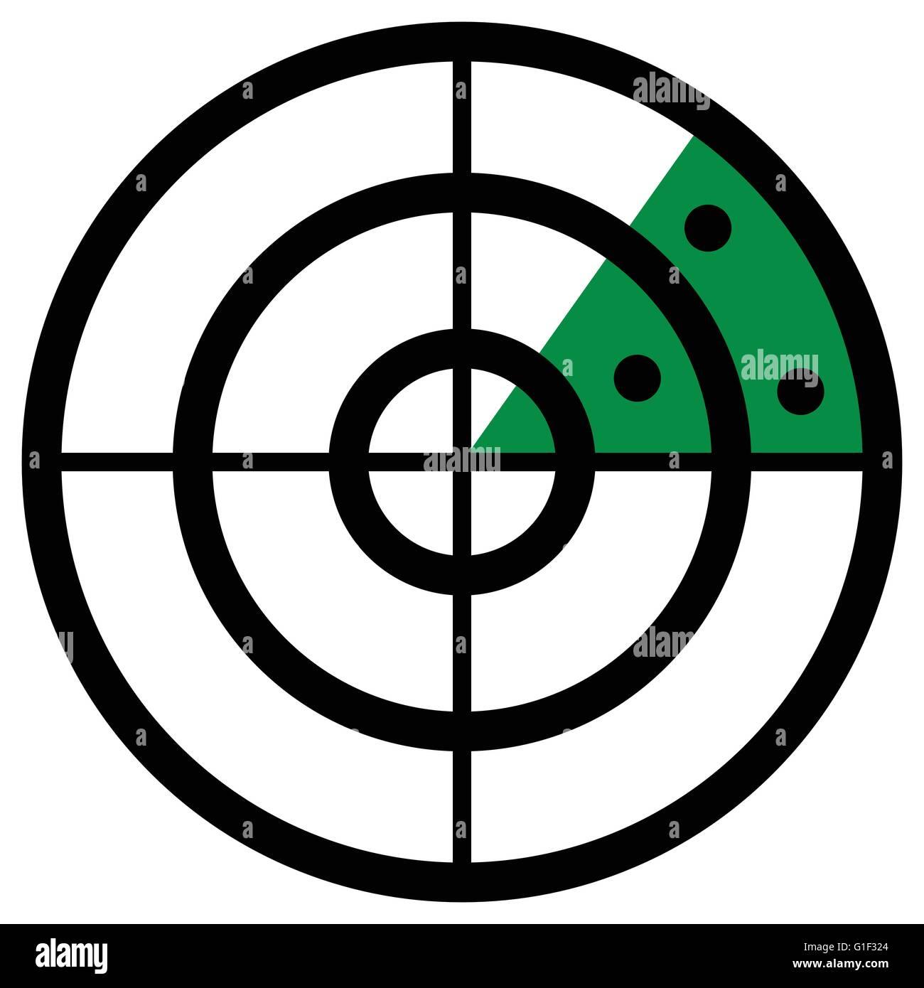 Radar Screen Symbol Clip Art With Targets Radar Icon Stock Vector