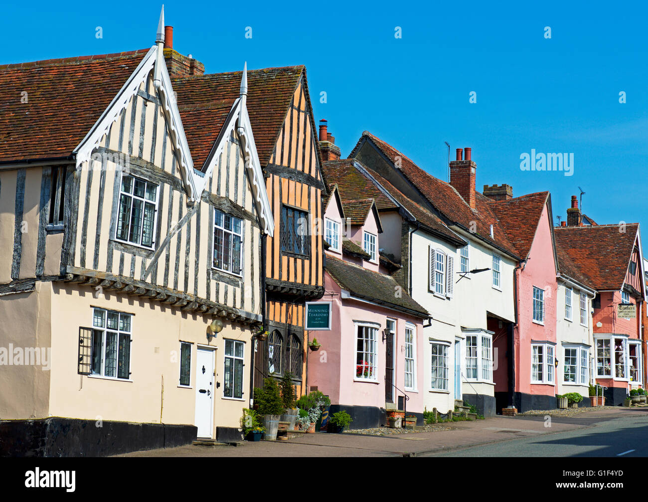 The Crooked House in the village of Lavenham, Suffolk, England UK - Stock Image