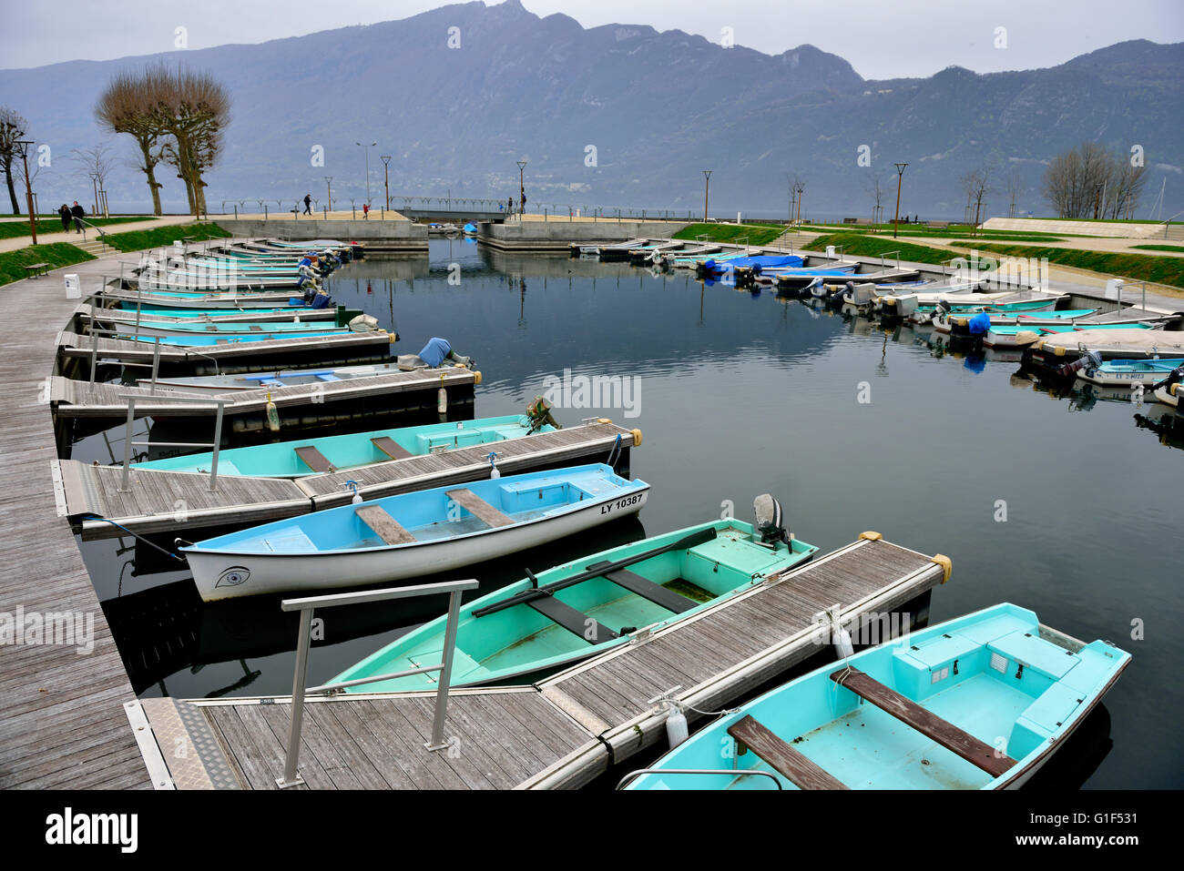 The French City Of Aix Les Bains Stock Photos The French City Of