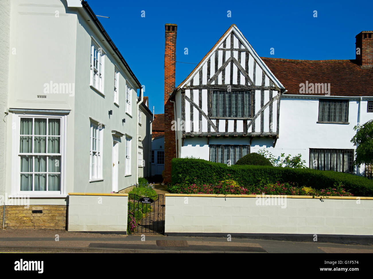 Half-timbered house in the village of Lavenham, Suffolk, England UK - Stock Image