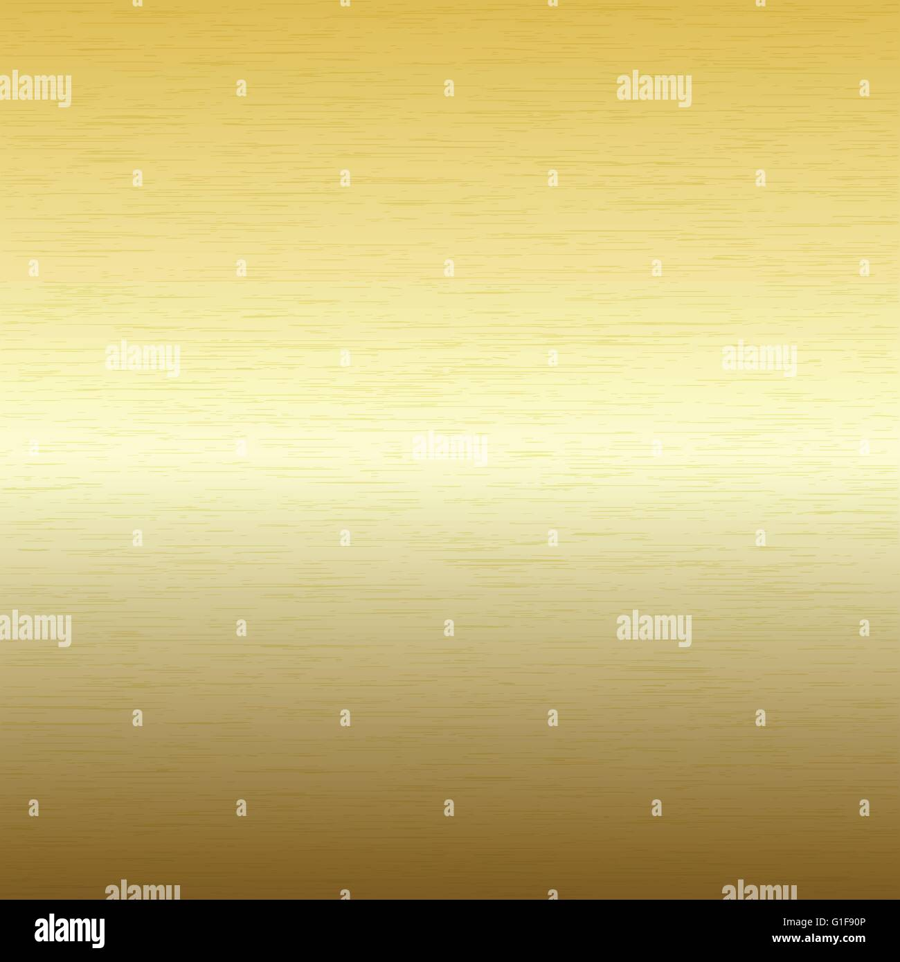 Vector image - Metal background, texture of brushed gold plate - Stock Vector