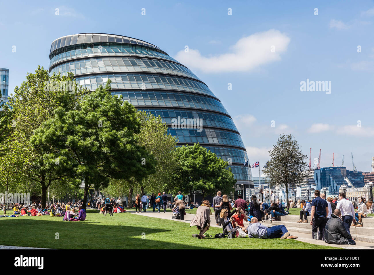 London City Hall (Assembly Building), Borough of Southwark, London, England, SE1, UK - Stock Image