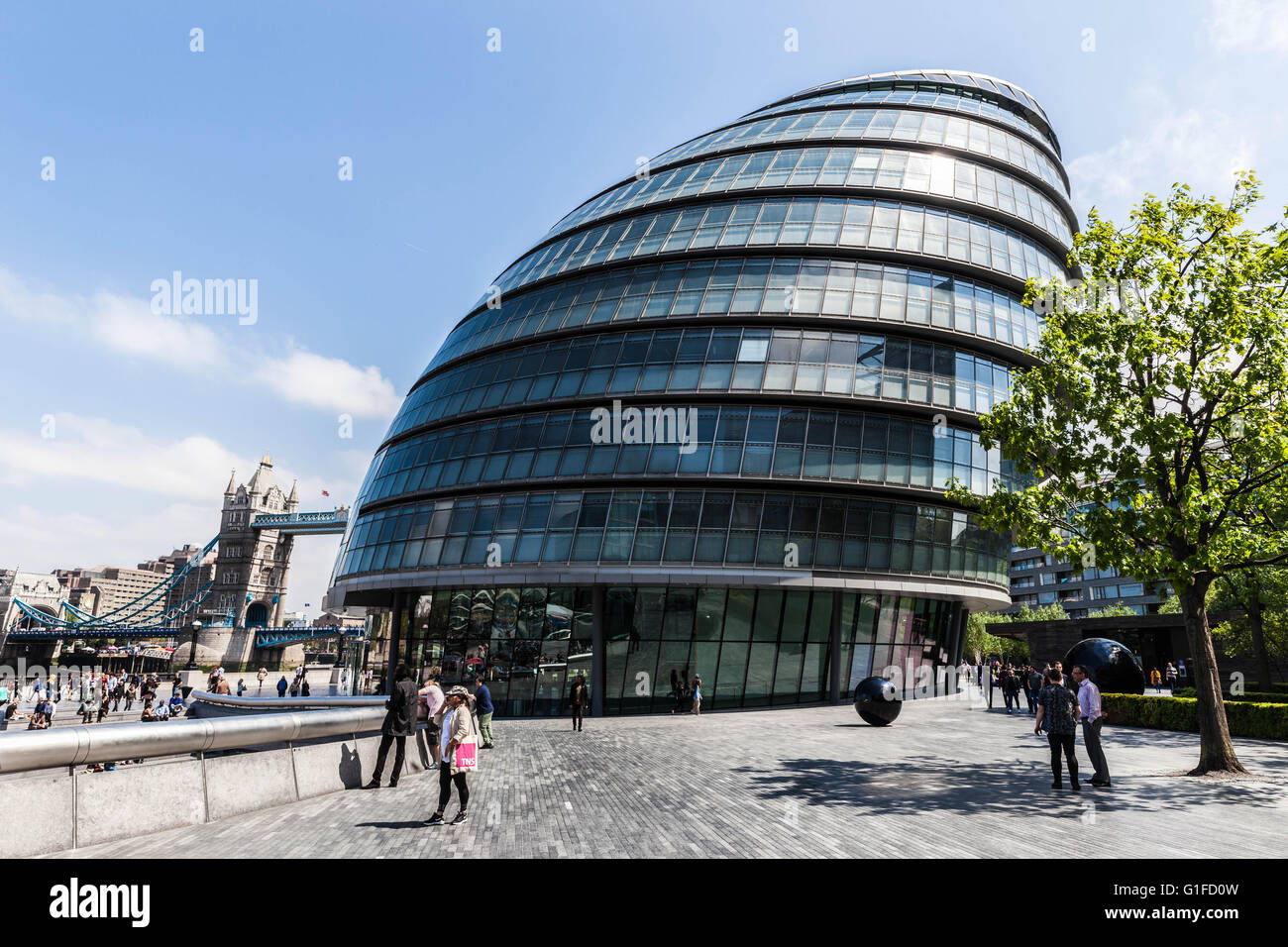 London City Hall (Assembly Building), Borough of Southwark, England, SE1, UK. - Stock Image