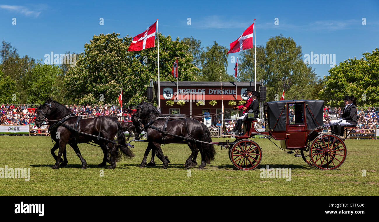 A old coach, Roskilde Denmark - Stock Image