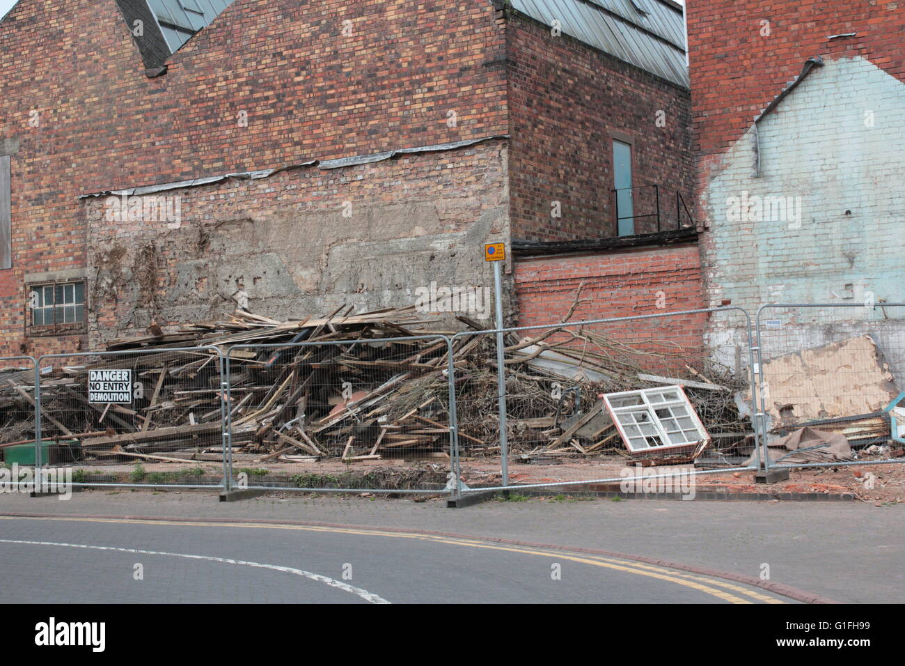 demolition work decay and renewal - Stock Image
