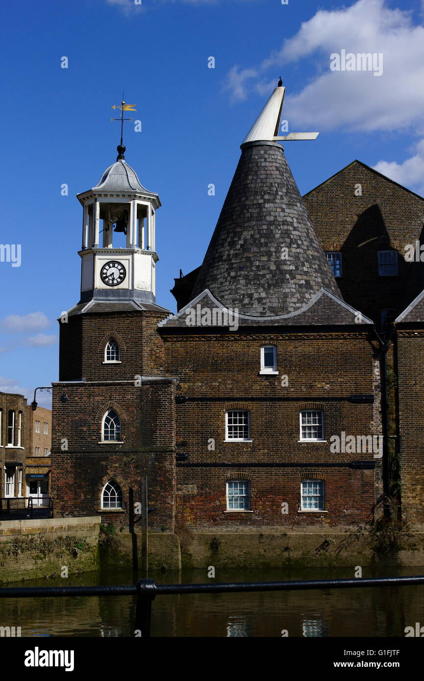 Three Mills on the River Lea, London - Stock Image